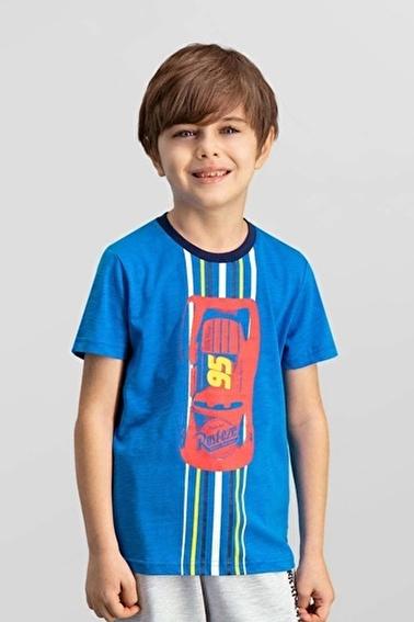 Cars Cars Lisanslı Lacivert Erkek Çocuk T-Shirt Mavi